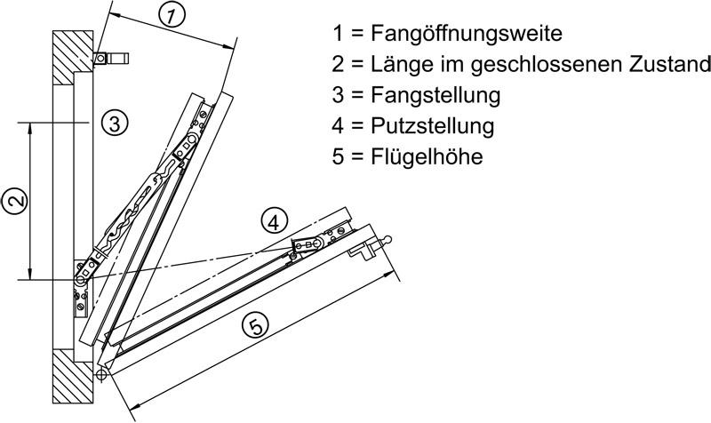 und Putzsicherung FPS 520 Gr/ö/ße 2 Oberfl/äche verzinkt GEZE Fang