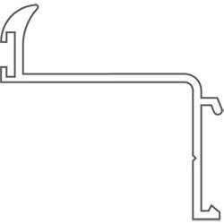 Schutzrosette Schieberosette käntig Rosette 5,7-6,0mm x 30 x 65 Aluminium