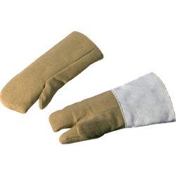 JUTEC Hitzeschutzhandschuhe 5-Finger Universalgröße natur Aramidgewebe  EN 388,
